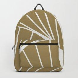 Diamond Series Round Sun Burst White on Gold Backpack