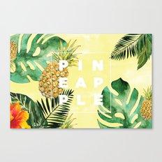 Tropical Pineapple Canvas Print