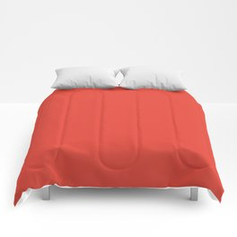 Vermilion - solid color Comforters