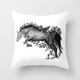 Horse - Go Vegan Throw Pillow
