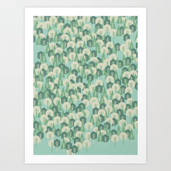 Geometric Woods Art Print