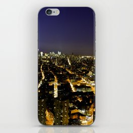Downtown Manhattan at Night iPhone Skin