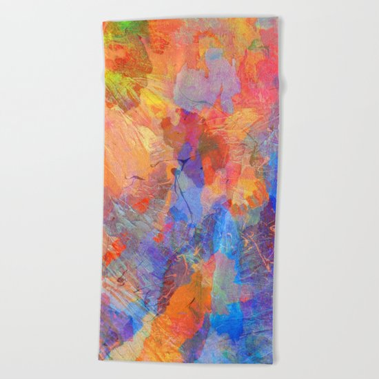Abstract Texture 06 Beach Towel