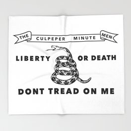 Historic Culpeper Minutemen flag Throw Blanket