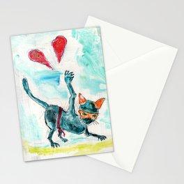 Ninja Cat Hates Love. Stationery Cards