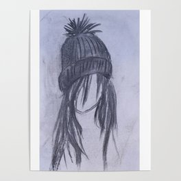 Girl with Beanie Poster