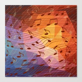 Music notes III Canvas Print