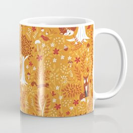 Foxes in a Forest of Fall Trees Coffee Mug