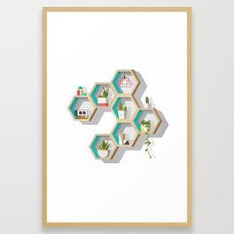 House Plant Shelves Framed Art Print