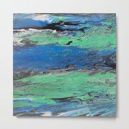 GALATHI Water Ocean Blue Painting Metal Print