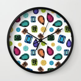 Gemstones (White) Wall Clock