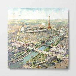 Paris World Fair 1900 Metal Print
