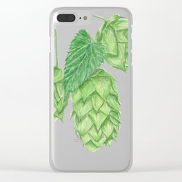 Beer Hop Flowers Clear iPhone Case
