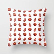 Playful Pomegranates  Throw Pillow