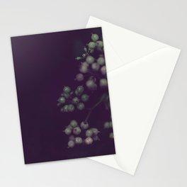 Sage Green Seeds on Deep Plum Stationery Cards