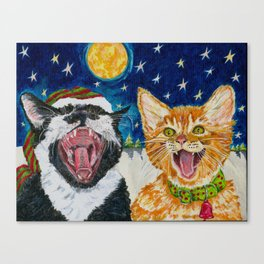 Th Catnip Singers Canvas Print