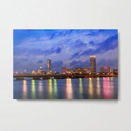 Harvard Bridge, colorful reflection Metal Print