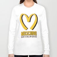 moschino Long Sleeve T-shirts featuring MOSCHINO  by Claudio Velázquez