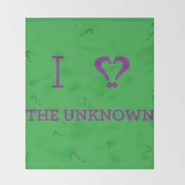 I heart The Unknown Throw Blanket