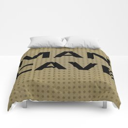 Man cave on tan Comforters