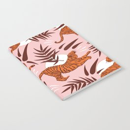 Vibrant Wilderness / Tigers on Pink Notebook