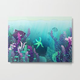 Deep down in the water Metal Print