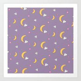 Usagi Tsukino Sheet Duvet - Sailor Moon Bunnies Art Print
