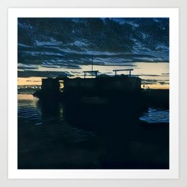 Redhook Sunset P3 Art Print