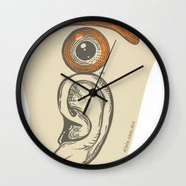 the eye in the ear Wall Clock