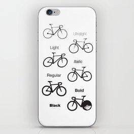 Bike Family iPhone Skin