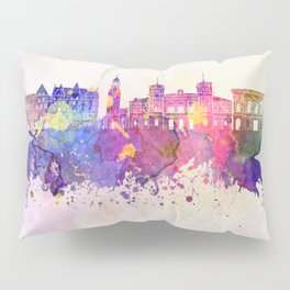 Aalborg skyline in watercolor background Pillow Sham