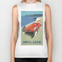 car Biker Tanks featuring CAR by Kathead Tarot/David Rivera