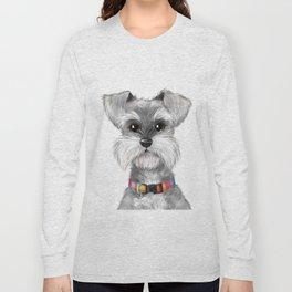 Moustache dog Long Sleeve T-shirt