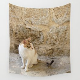 Summertime Cat  Wall Tapestry