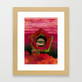 Crumbling Nebula Framed Art Print
