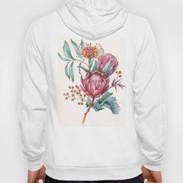 King protea flowers watercolor illustration Hoody