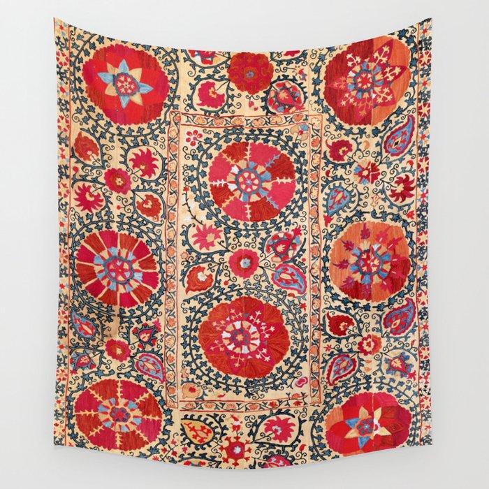 Samarkand Suzani Southwest Uzbekistan Embroidery Wall Tapestry