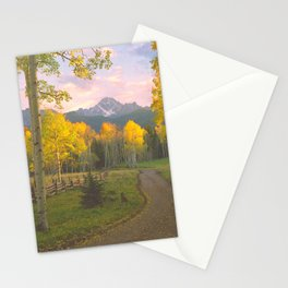 Aspen on a Country Road in the San Juan Mountains of Colorado Stationery Cards