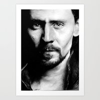 tom hiddleston Art Prints featuring Tom Hiddleston by apostatemages