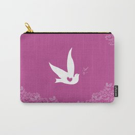 Love and Freedom - Purple Carry-All Pouch