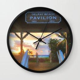 Delray Beach Pavilion Wall Clock