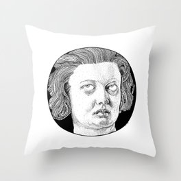 Costanza is annoyed Throw Pillow