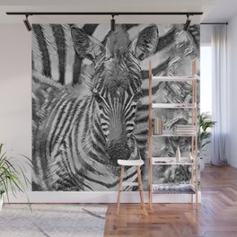 AnimalArtBW_Zebra_20170702_by_JAMColorsSpecial Wall Mural