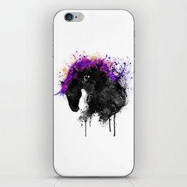 Horse Head Watercolor Silhouette iPhone Skin