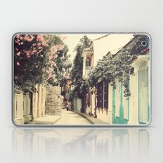 Just like a dream street (Retro and Vintage Urban, architecture photography) Laptop & iPad Skin