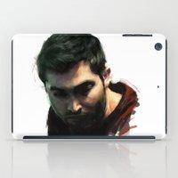 derek hale iPad Cases featuring Derek by @cuisle