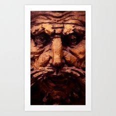 Wooden Man I (Color) Art Print