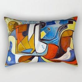 La Vie est Belle en Couleurs Primaires Rectangular Pillow