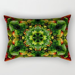 Peppy pepper mandala - green center Rectangular Pillow