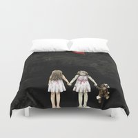twins Duvet Covers featuring Twins by JuniperFawkes